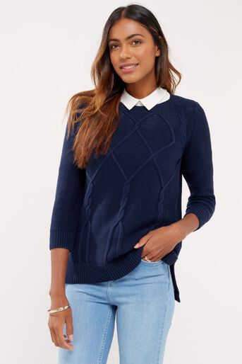 Oasis, Cable knits Navy 1