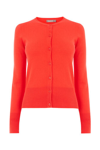 Oasis, Crew cardi Rich Red 0