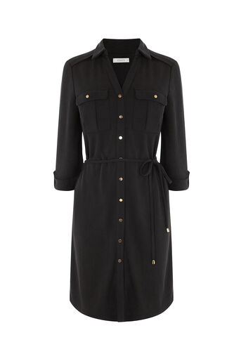 Oasis, TEXTURED SHIRT DRESS Mid Grey 0