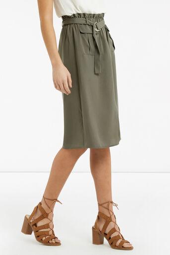 Oasis, Britex Paper Bag Skirt Khaki 1