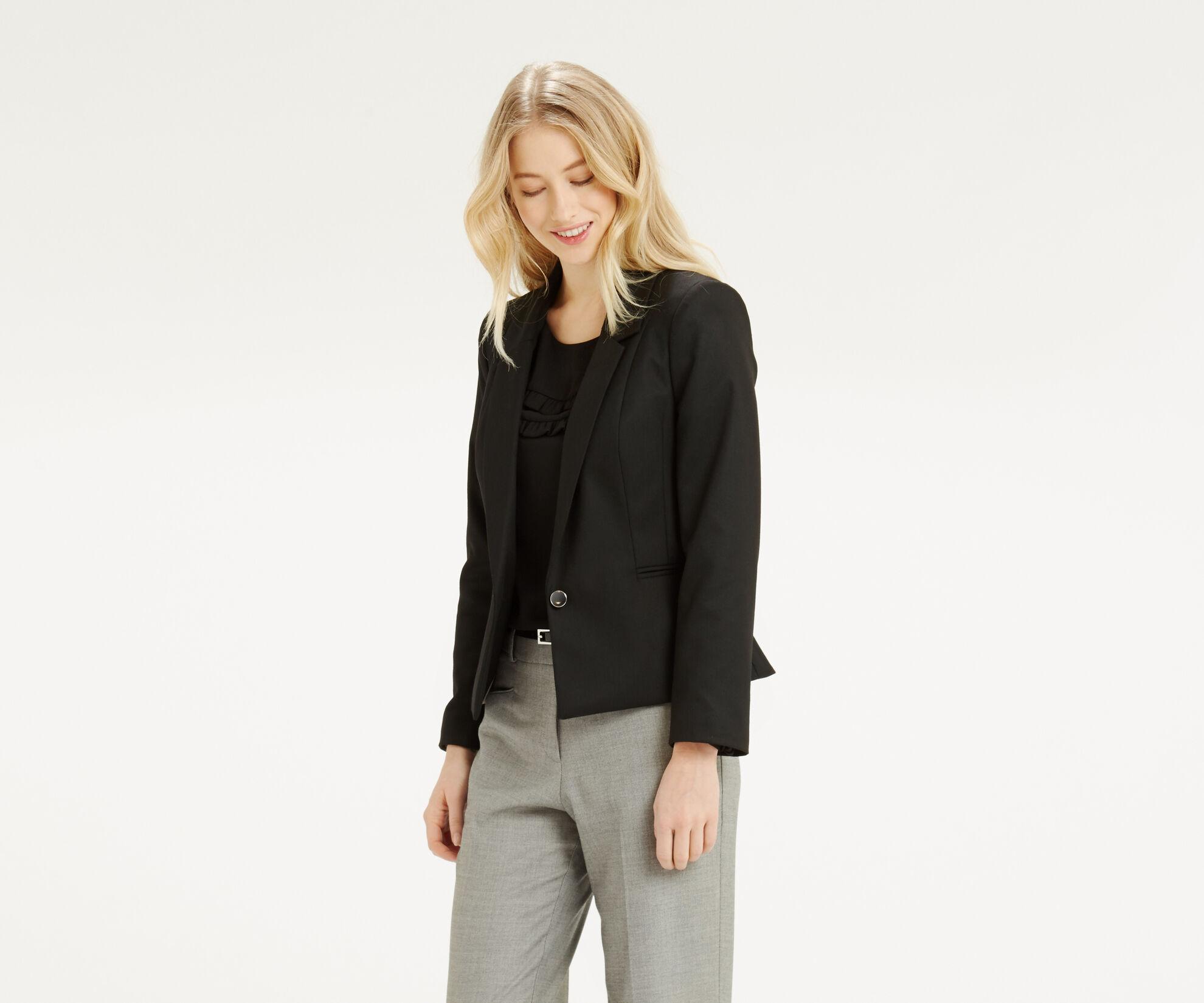 Oasis, Alba Workwear Jacket Black 1