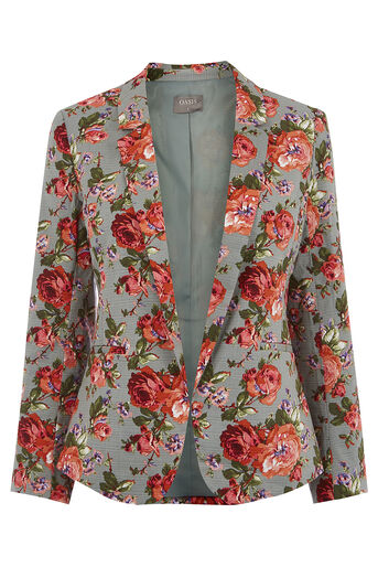 Oasis, ROSE PRINT SUIT JACKET Multi 0