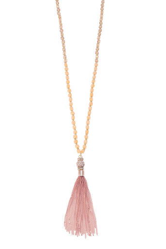 Oasis, LONG TASSEL NECKLACE Coral 0