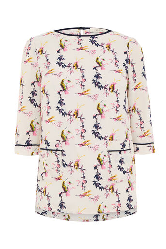 Oasis, LOTUS BIRD POCKET TOP Multi Natural 0