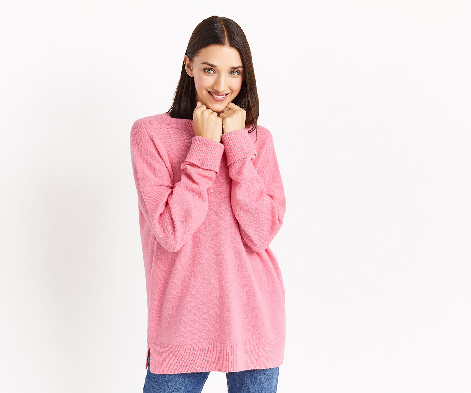 Oasis, OVERSIZED PERFECT CREW Mid Pink 1