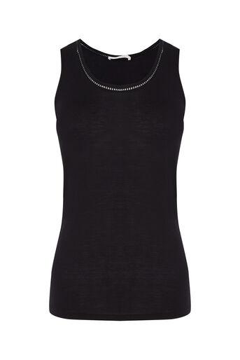 Oasis, Detailed Trim Vest Black 0