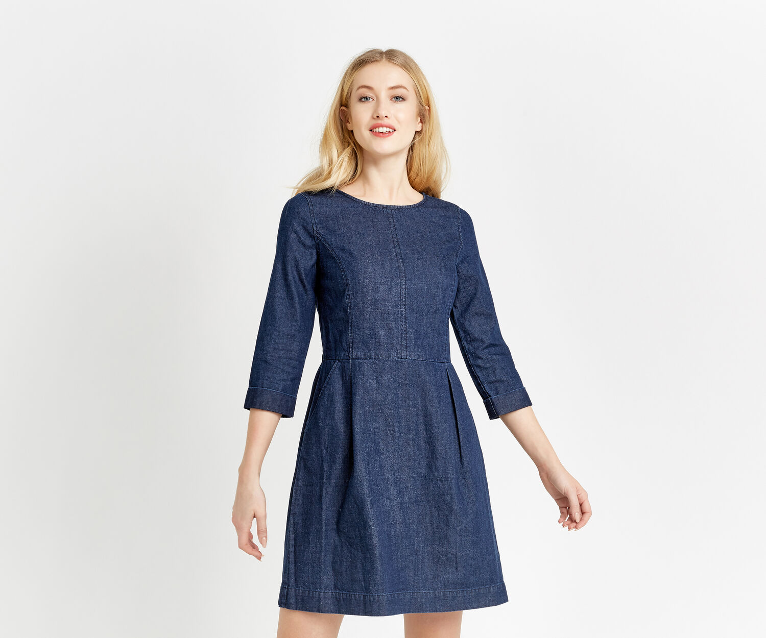 Oasis, CARRIE SHIFT DRESS Denim 1