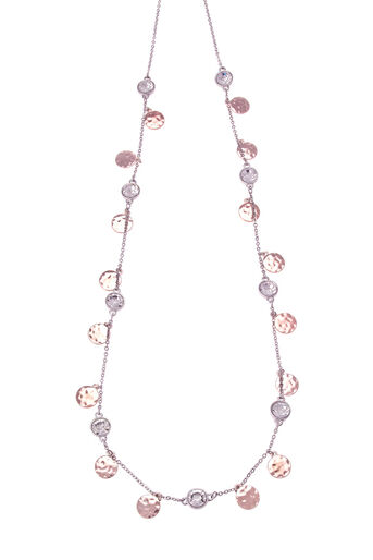 Oasis, DISC & CRYSTAL CHAIN NECKLACE Multi 0