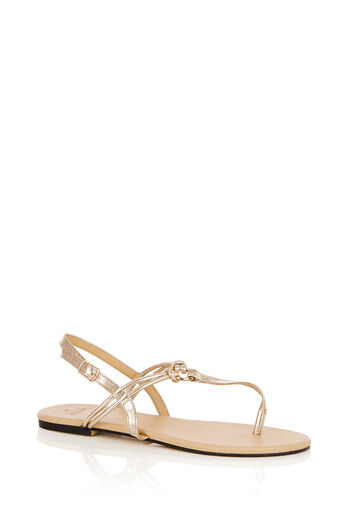 Oasis, PIXIE TOE POST SANDALS Gold 0