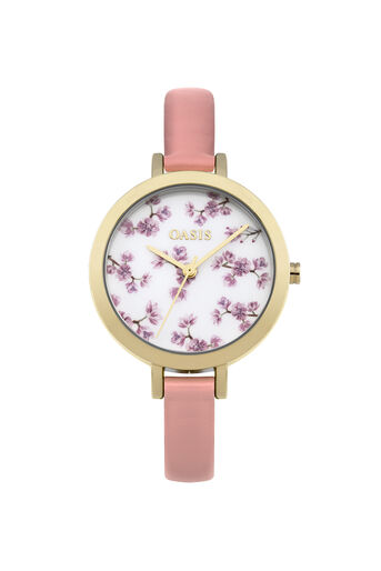 Oasis, Floral Printed Watch Powder Pink 0
