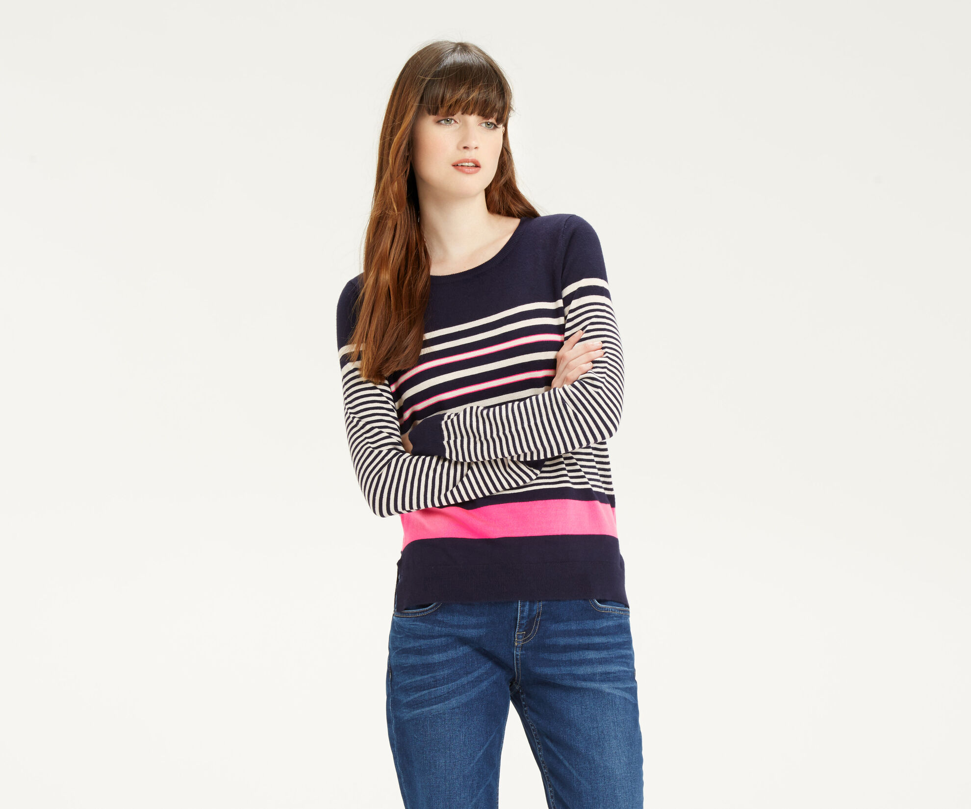 Oasis, Verigated Stripe Jumper Multi 1