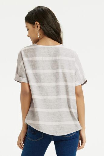 Oasis, Textured Stripe T-Shirt Multi 3