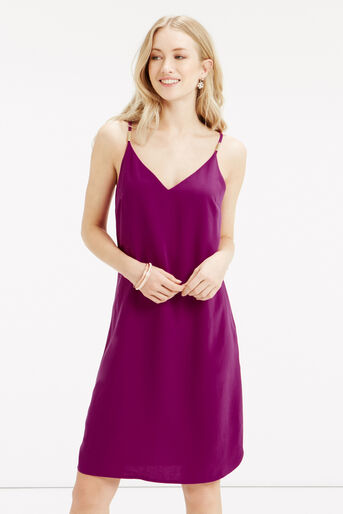 Oasis, Crepe Cami Dress - Longer Leng Mid Purple 1