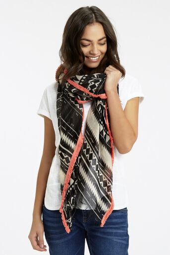 Oasis, Deco Fringed Scarf Multi 1