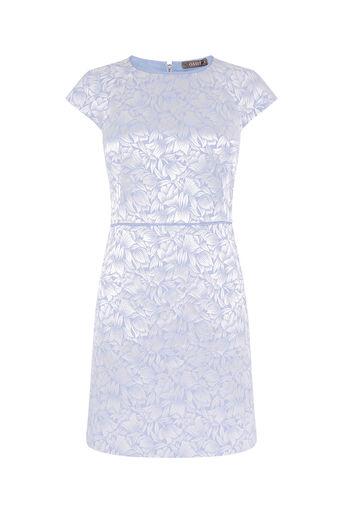 Oasis, JACQUARD SHIFT DRESS Multi Blue 0