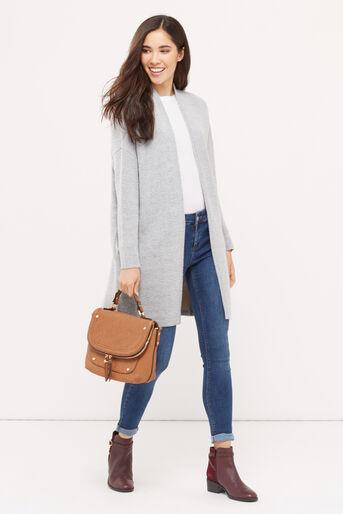 Oasis, 2 tone cosy cardigan Mid Grey 2