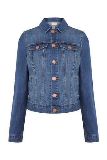 Oasis, Embroidered denim jacket Denim 0
