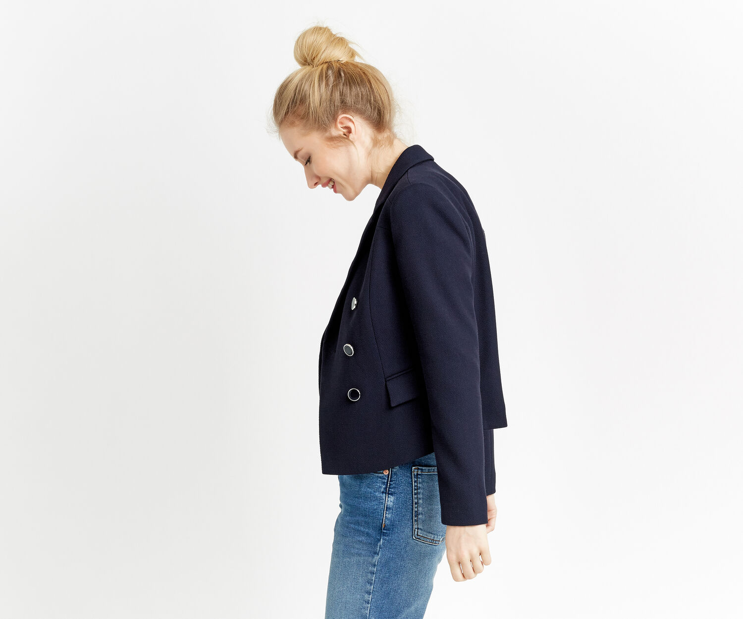 Oasis, DOUBLE BREASTED JACKET Navy 1