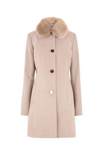 Oasis, OLIVIA PRINCESS COAT Pale Pink 0