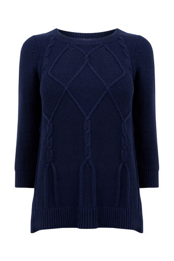 Oasis, Cable knits Navy 0