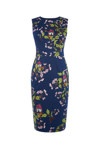 Oasis, TOPAZ BIRD PENCIL DRESS Multi 0