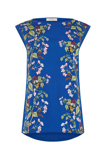 Oasis, topaz place woven front top Multi Blue 0