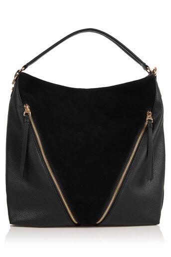 Oasis, ZIP HOBO BAG Black 0