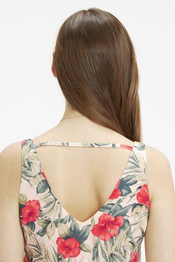 Oasis, Tropical Midi Dress Multi Natural 4