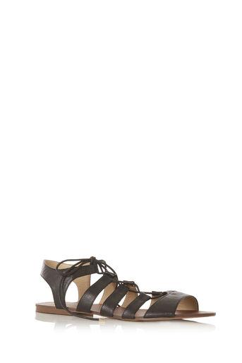 Oasis, Gracie Lace Up Sandal Black 0