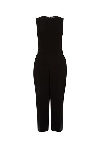 Oasis, CULOTTE WIDE LEG JUMPSUIT Black 0