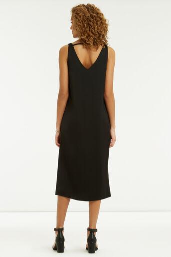 Oasis, Luxe Crepe Slip Dress Black 3