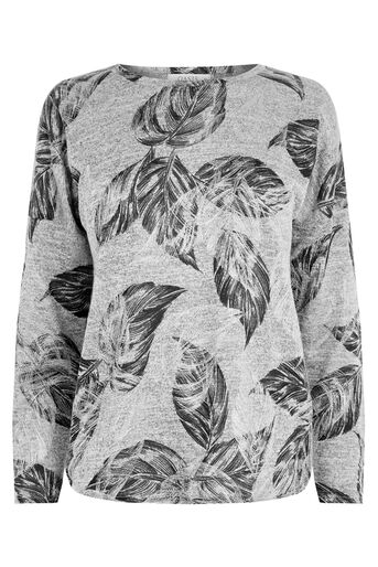 Oasis, FEATHER SHIMMER SWEATER Mid Grey 0