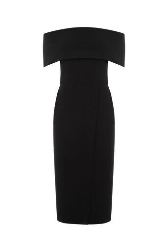 Oasis, BARDOT PENCIL DRESS Black 0