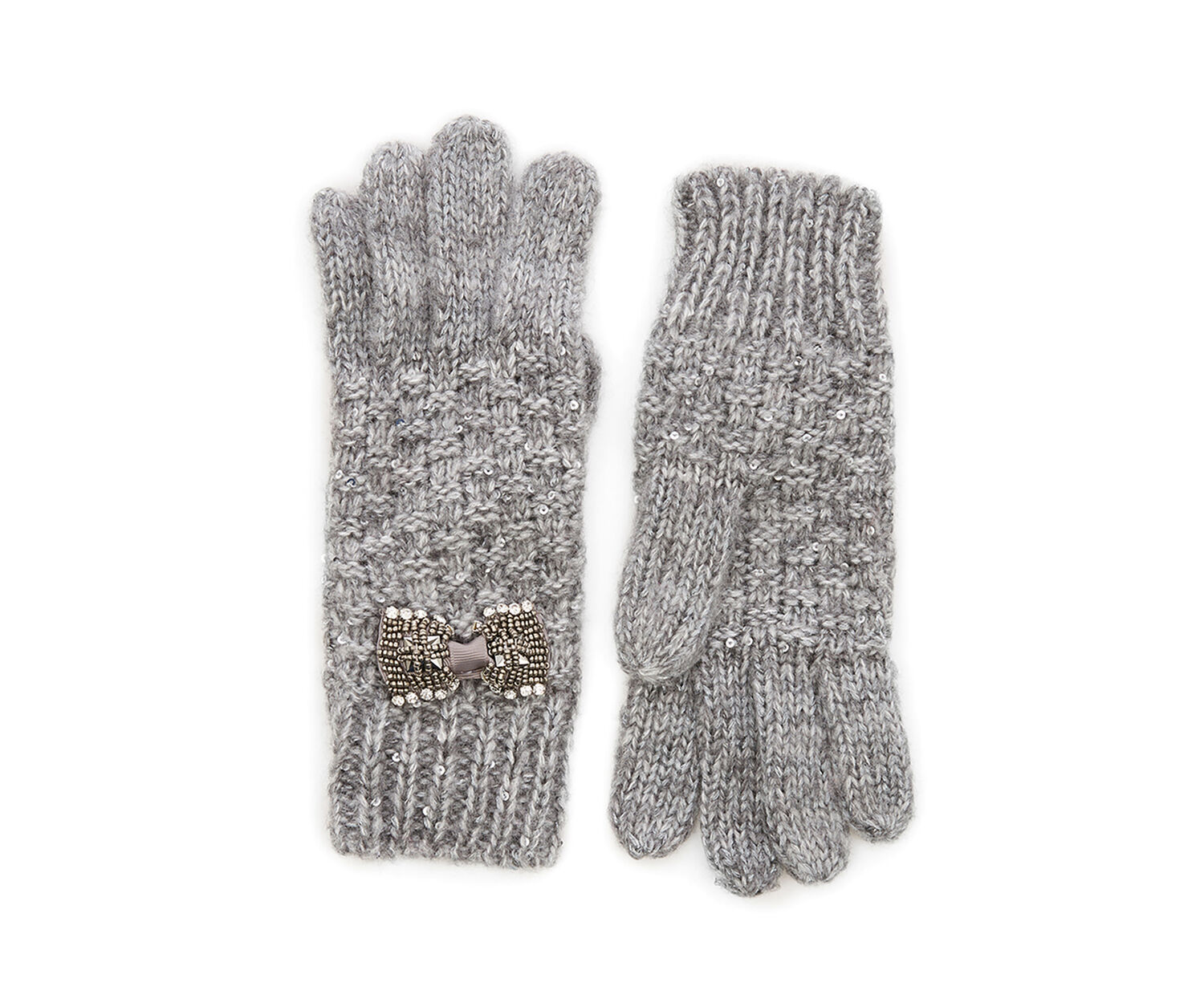 Oasis, BOW GLOVES Mid Grey 1