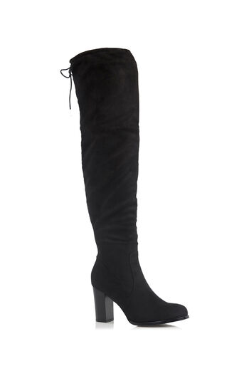 Oasis, BONNIE HIGH OVER THE KNEE BOOT Black 0