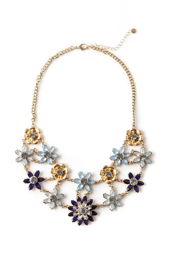 Oasis, STATEMENT FLORAL COLLAR Gold 0