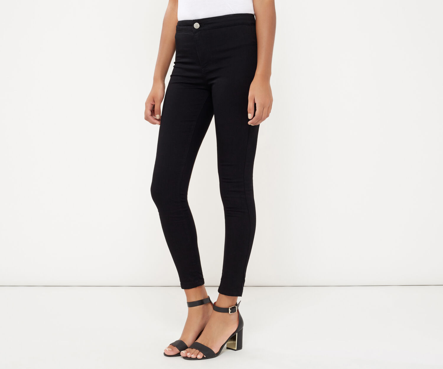 Oasis, RILEY STREAMLINED SKINNY JEANS Black 1