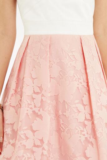 Oasis, Organza Midi Dress Multi Pink 4