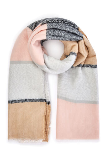 Oasis, WIDE STRIPE SCARF Multi 0