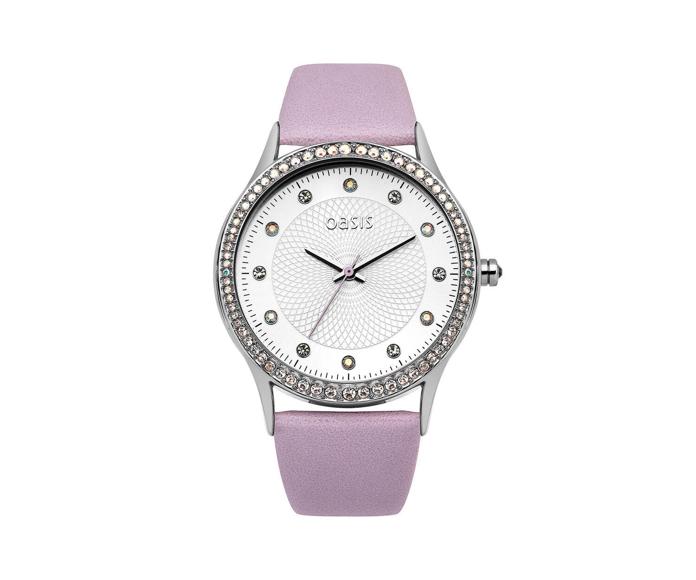 Oasis, Lilac PU Strap Watch Lilac 0