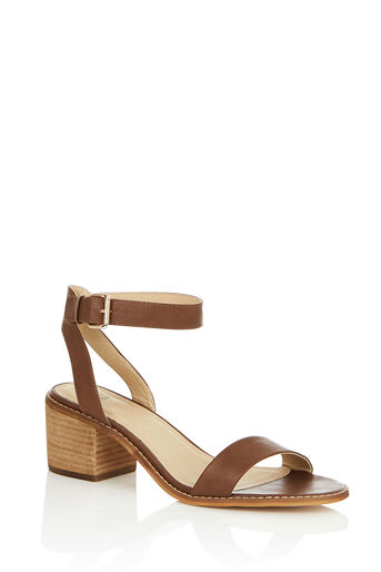 Oasis, BROOKE BLOCK HEEL Tan 0