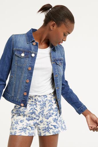 Oasis, Embroidered denim jacket Denim 4