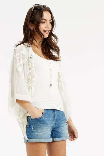 Oasis, Skyla Embroidered Kimono White 1