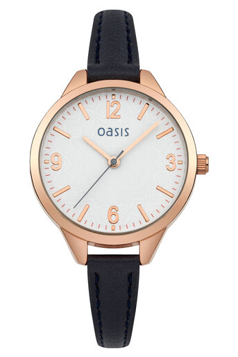 Oasis, Simple Strap Watch Navy 0