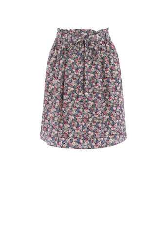 Oasis, DITSY PAPER BAG SKIRT Multi 0