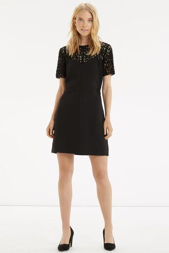 Oasis, Lace Patched Dress Black 2