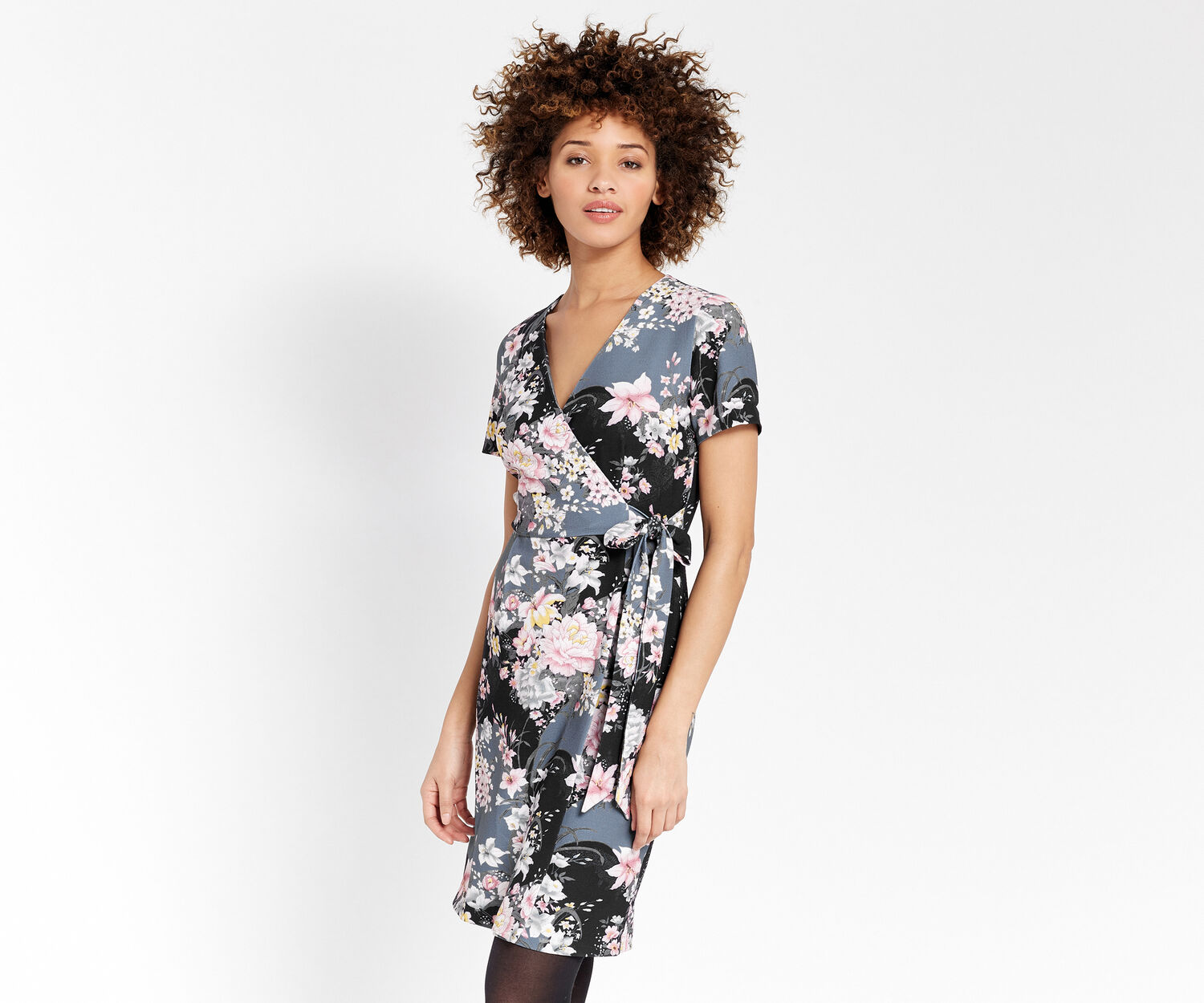 Oasis, LOTUS WRAP DRESS Multi 1