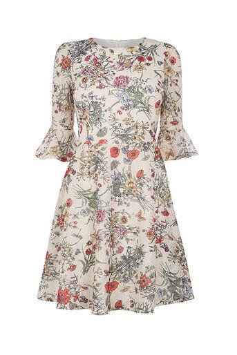 Oasis, AZELIA LACE PRINT DRESS Cream 0