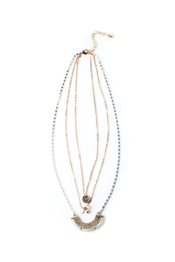 Oasis, LAYERED CHAIN NECKLACE Multi 0