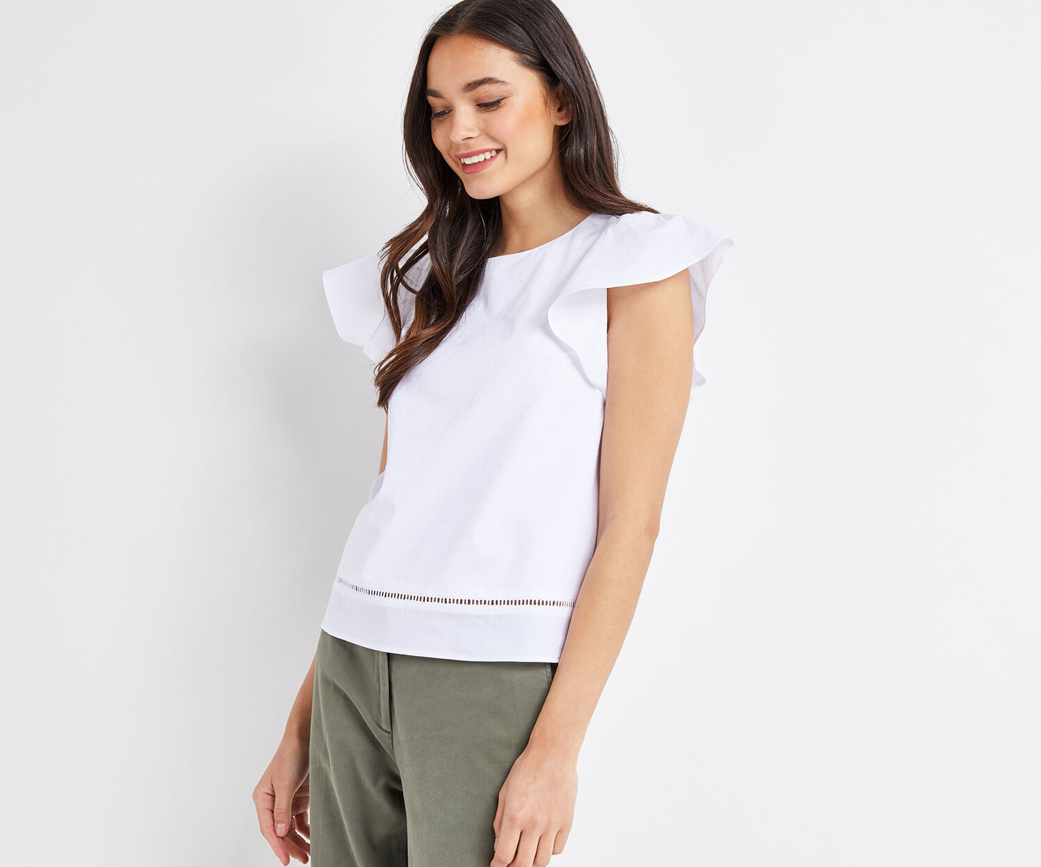 Oasis, COTTON SHELL TOP White 1